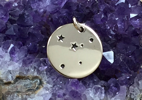 Zodiac Charm, Cancer Charm, Zodiac Constellation Charm, Natural Bronze Charm, Necklace Charm, Necklace Pendant