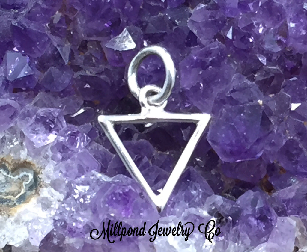 Four Elements Charm, Elements Charm, Water Element Charm, Sterling Silver Charm, PS01707