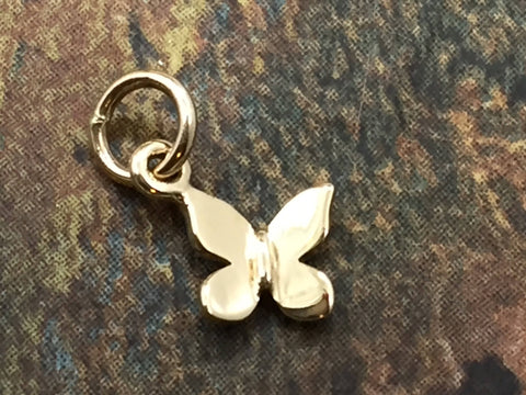 Butterfly Charm, Butterfly Pendant, Bronze Butterfly Charm, Jewelry Supplies, Jewelry Findings, TINY Butterfly Charm