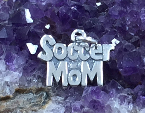 Soccer Mom Charm, Soccer Charm, Soccer Player Gift, Sports Fan Charm, Sports, Sports Mom Charm