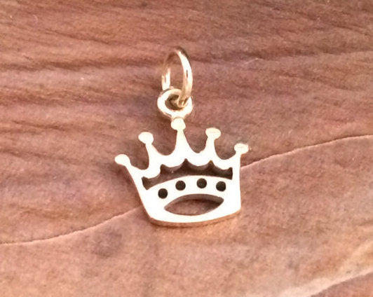 Crown Charm, Bronze Crown Charm, Open Crown Charm, Bronze Charm, Crown Pendant, Cut Out Crown Pendant