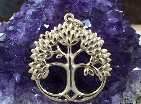 Tree of Life Pendant, Tree of Life Charm, Leafy Family Tree Pendant, Family Tree Charm, Natural Bronze Tree of Life, PG0157