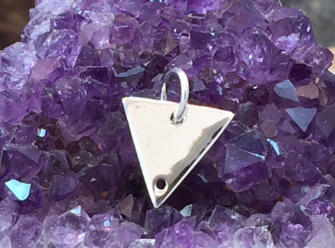 Triangle Pendant, Small Triangle Charm, Sterling Silver Charm, Sterling Silver Triangle, PS01218