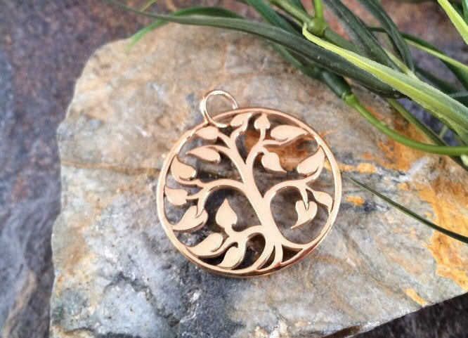 Tree of Life Pendant, Tree of Life Charm, Family Tree Pendant, Family Tree Charm, Bronze Tree of Life, Large Size, PB0126