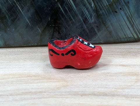10 Clog Beads, Shoe Charm, Peruvian Ceramic Beads, Ceramic Beads, Clogs Charm, TINY Clogs Beads, Shoe Beads, Peruvian Beads