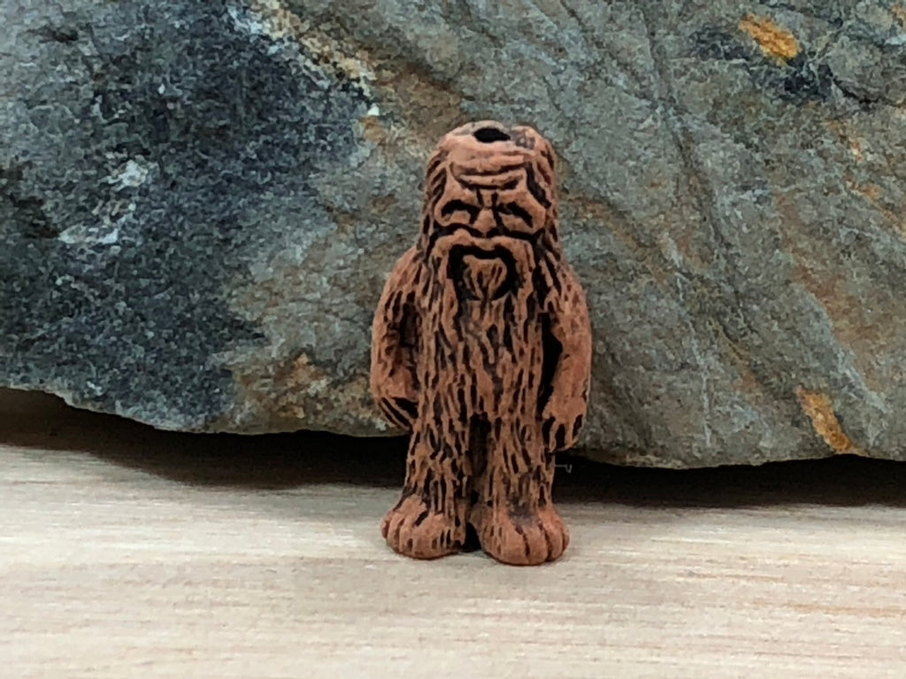 10 Bigfoot Beads, Sasquatch Bead, Peruvian Ceramic Beads, Ceramic Beads, Bigfoot Charm, Sasquatch Charm, Beads, Peruvian Beads
