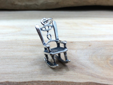 Rocking Chair Charm, Sterling Silver Rocking Chair Charm, Rock a Bye Baby Charm, Chair Charm, Sterling Silver Charm