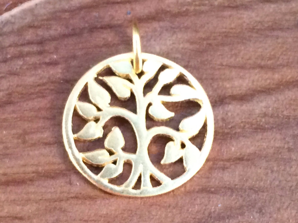 Tree of Life Pendant, Tree of Life Charm, Gold Tree of Life, Family Tree Pendant, Family Tree Charm, Small Size, PG0101