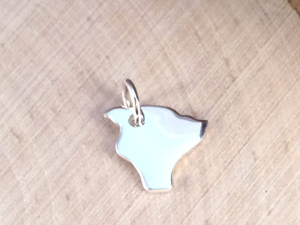 Hawaii Charm, Hawaii Pendant, Hawaii Stamping Blank, Sterling Silver Hawaii Stamping Blank, Sterling Silver Charm,  TINY, PS01415
