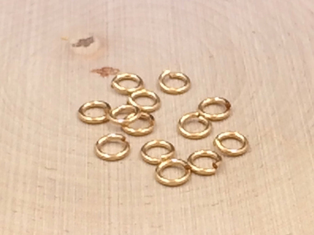 Hard Snap Jump Rings, Locking Jump Rings, Jump Rings, Gold Filled Sterling Silver Jump Rings, 5.8mm, 20 Pieces