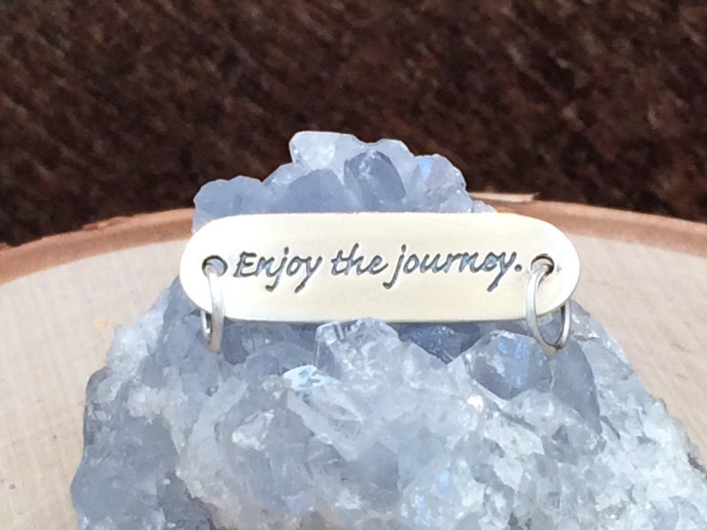 Enjoy The Journey Charm, Enjoy The Journey Connector, Word Charm, Sterling Silver Charm, Sayings Charm, PS01200