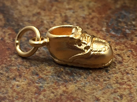 Baby Shoe Charm, Baby Charm, Baby Pendant, New Baby Charm, New Baby Pendant, Gold Plated Sterling Silver Charm, Shoe Charm, PG0120
