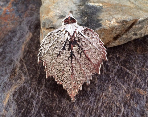 Birch Leaf Pendant, Silver Birch Leaf Pendant, Sterling Silver Birch Leaf, Leaf Pendant, Nature Pendant