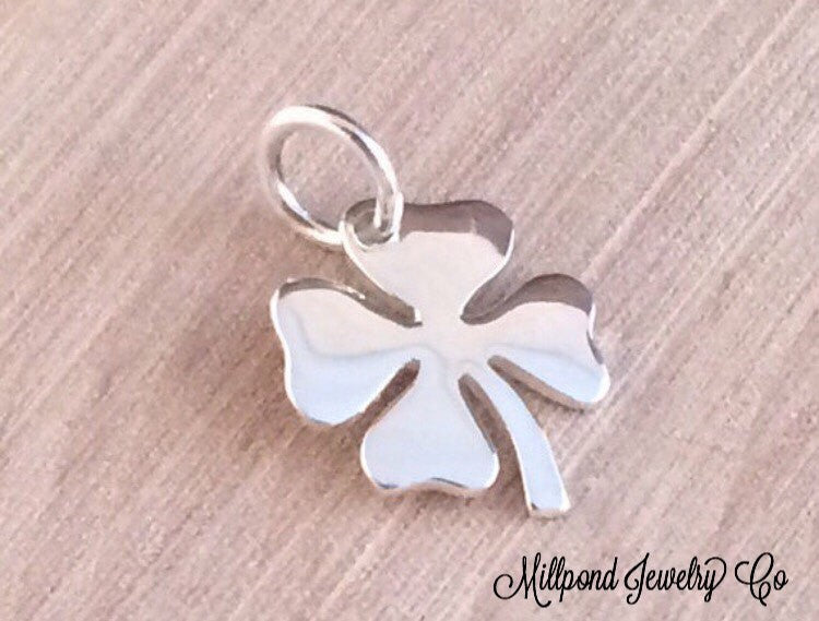 Four Leaf Clover Charm, Sterling Silver Four Leaf Clover, Four Leaf Clover Pendant, Sterling Silver Pendant, Sterling Silver Charm, PS0172