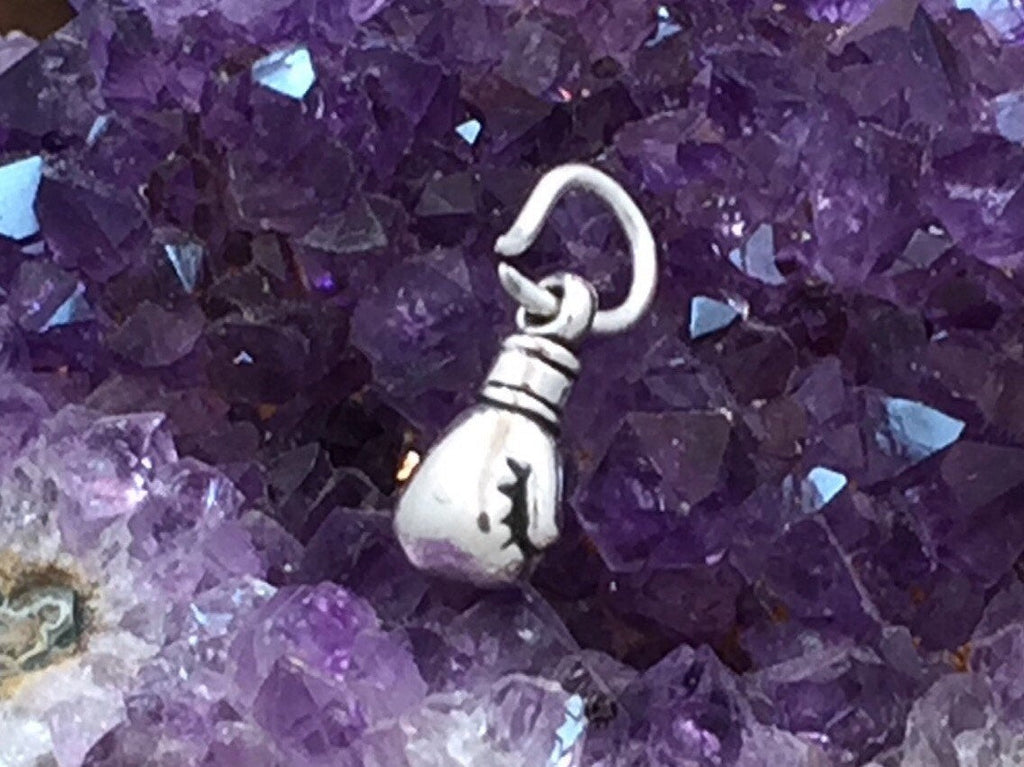 Boxing Glove Charm, Fighter Charm, Cancer Survivor Charm, Cancer Fighter, Sterling Silver, Boxer Charm, PS1421