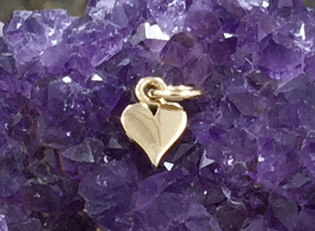 Tiny Heart Charm, Heart Cut Out Charm, Heart Charm, Bronze Heart Charm, Heart Charm, 1 Piece, PB0142