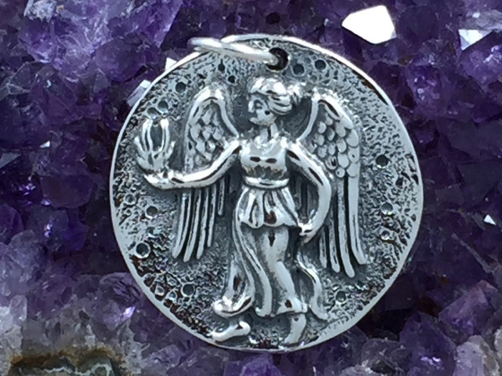 Silver Coin Charm, Angel Coin Charm, Angel Charm, Coin Charm, Mystical Charm, Mythical Charm, Sterling Silver, PS01350