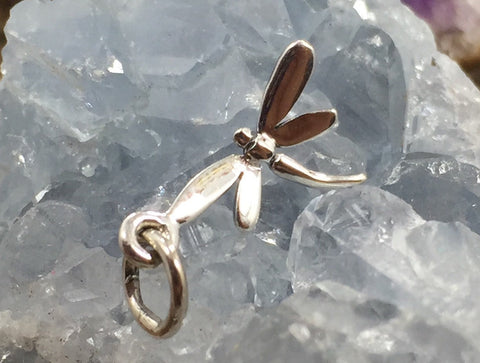 Dragonfly Charm, Sterling Silver Dragonfly Charm, Dragon Pendant, Sterling Silver Charm, TINY Dragonfly Charm, PS01360