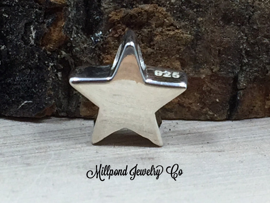 Small Star Bead, Star Bead, Sterling Silver Star Bead, Tiny, 1 Piece, PS01431