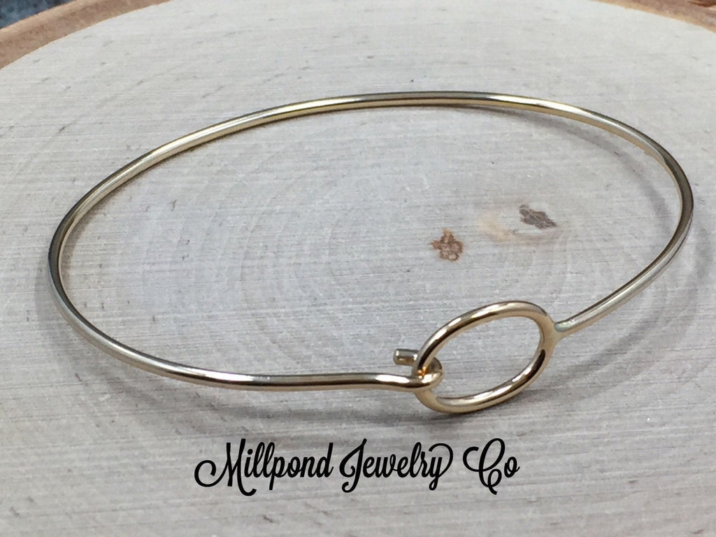 Bracelet, Bangle, Charm Bracelet with Hook and Eye, Hook and Eye Bracelet, Bronze Bracelet, PB0179