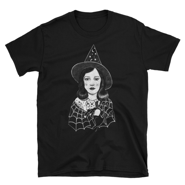 "Edith Lebeau's ""Little Witch"" Black Unisex Tee"
