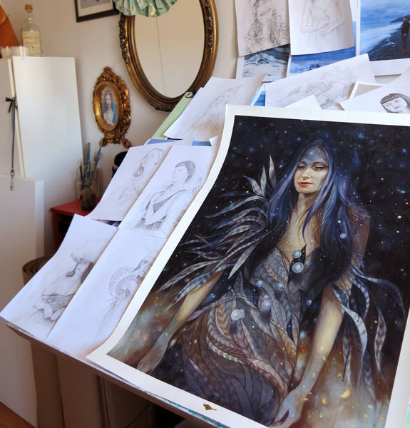 """Stardust"" Proof Prints by Edith Lebeau"