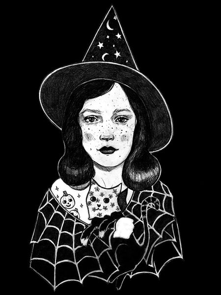 "Edith Lebeau's ""Little Witch"" Black Women's Tee"