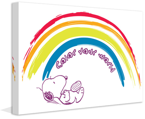 SNOOPY LOVE RAINBOW ART