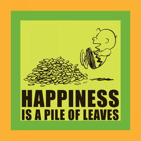 Happiness is a Pile of Leaves
