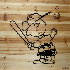 Charlie Brown Hitting Baseball