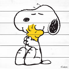 Snoopy and Woodstock hugging