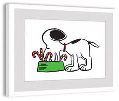 Snoopy Eating Candy Canes