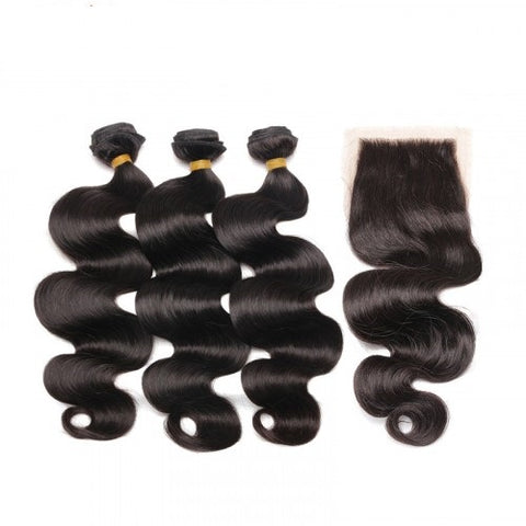 3 BUNDLES + FREE FRONTAL OR CLOSURE (BODY WAVE, STRAIGHT, LOOSE WAVE)