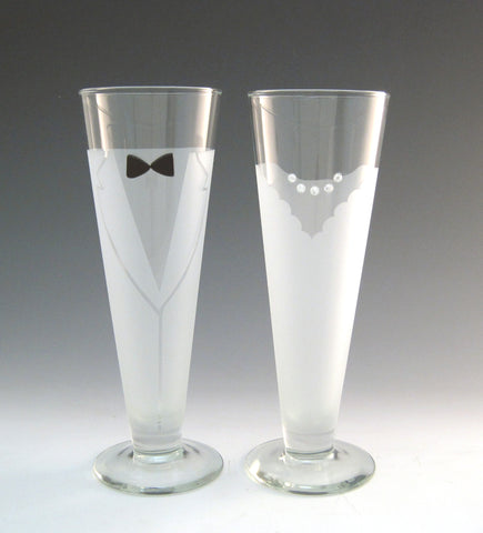 Wedding Toasting Glasses!  (Pilsner)