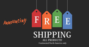 We are switching to Free Shipping!