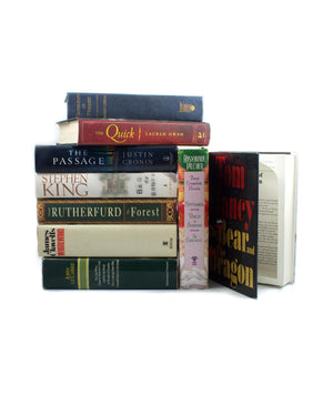 CASE of SIX - Large Traditional Book Safes - Secret Storage Books