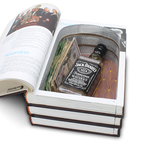 The Americana Annual - Stack of THREE made into an XXL Hollow Book - Secret Storage Books