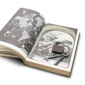 Book of the Seven Seas - Vintage Hollow Book - Secret Storage Books