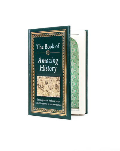 Book of Amazing History - Large Book Safe - Secret Storage Books