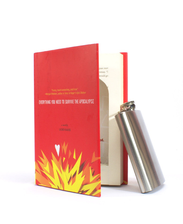 Everything You Need to Survive the Apocalypse - Book Safe with FLASK - Secret Storage Books