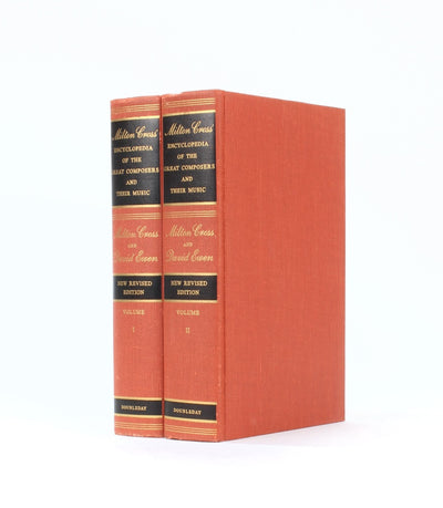 Encyclopedia of Great Composers  - Stack of TWO - Book Safe