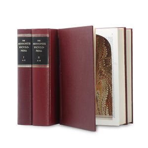 Mennonite Encyclopedia - TWO stacks of TWO - XXL Hollow Books - Secret Storage Books