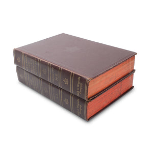 Funk and Wagnall's New Practical Dictionary - Stack of TWO Secret Storage - Secret Storage Books