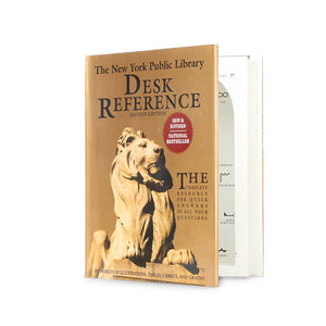 New York Public Library Desk Reference - XL Secret Storage Book - Secret Storage Books