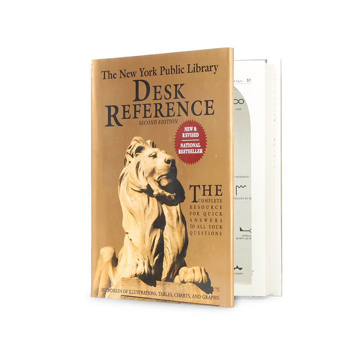 New York Public Library Desk Reference - XL Secret Storage Book