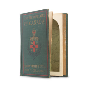 Histoire Populaire du Canada - Antique Book Safe - Secret Storage Books