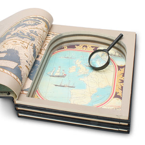 The Explorers - Stack of THREE Seafarer Hollow Book Safe - Secret Storage Books