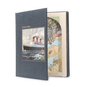 The Great Liners - Stack of THREE Seafarer Hollow Book Safe - Secret Storage Books