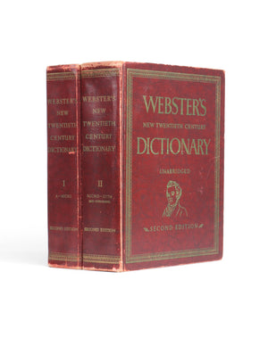Webster's Vintage Dictionary Stack of TWO - XXL Hollow Book