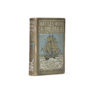 Battles with the Sea - Vintage Hollow Book - Secret Storage Books